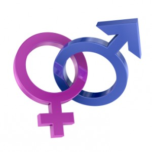 Intertwined gender symbols